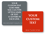 Custom XpressDoor Braille Signs