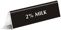 Milk Office Tabletop Tent Sign