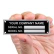 Rectangular Equipment Name Plate (11/16