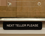 Teller Signs