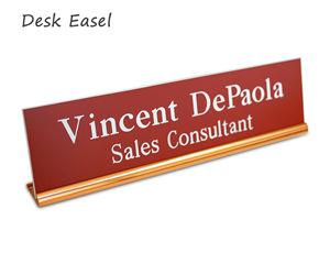 Desk Easel Nameplates