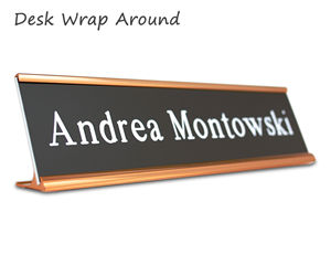 Desk Wrap Around Nameplates