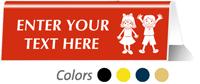 Children Restroom Tabletop Custom Sign