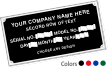 Create Your Own Aluminum Nameplate